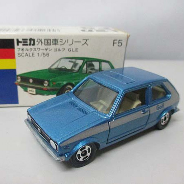 開封 青箱トミカ F5 フォルクスワーゲン ゴルフ GLE を買取いたします。