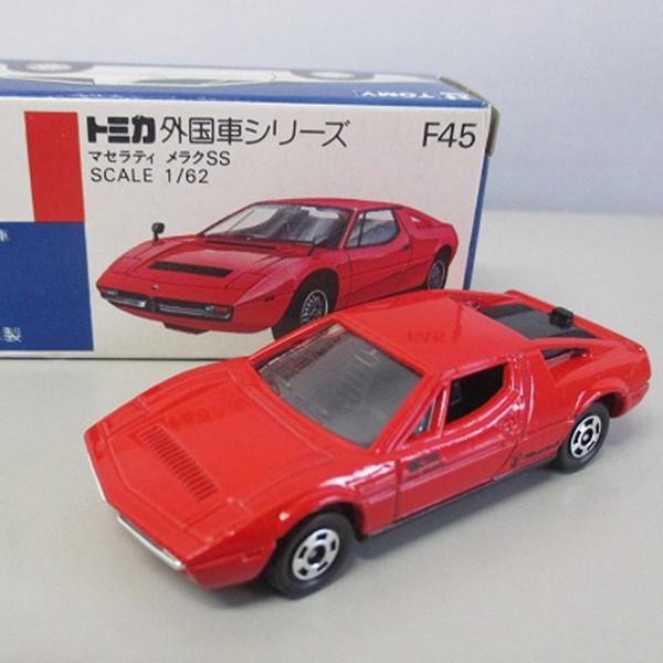 青箱トミカ F45 マセラティ メラクSS を買取いたします。